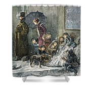 New York: Poverty, 1876 Shower Curtain by Granger