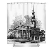New York: St Pauls Church Shower Curtain by Granger