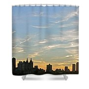 New York Sunset 2 Shower Curtain by Randi Shenkman