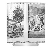 New York: Winery, 1878 Shower Curtain by Granger
