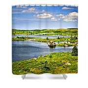 Newfoundland Landscape Shower Curtain by Elena Elisseeva