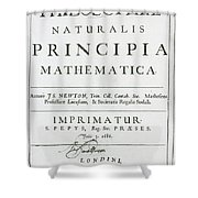 Newtons Principia, Title Page Shower Curtain by Science Source