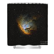 Ngc 281, The Pacman Nebula Shower Curtain by Rolf Geissinger