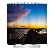 Night Approaches Shower Curtain by Shannon Harrington