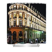 Night Paris Shower Curtain by Elena Elisseeva
