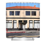 Niles California Banquet Hall . 7D12736 Shower Curtain by Wingsdomain Art and Photography