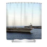 Nimitz-class Aircraft Carriers Transit Shower Curtain by Stocktrek Images