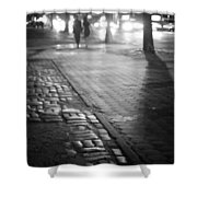 Nocturne - Night - New York City Shower Curtain by Vivienne Gucwa