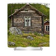 Norwegian Timber House Shower Curtain by Heiko Koehrer-Wagner
