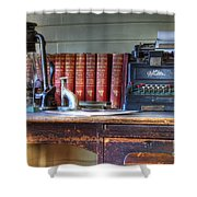 Nostalgia Office Shower Curtain by Bob Christopher