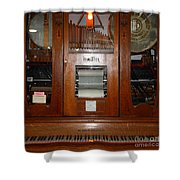 Nostalgic Wurlitzer Player Piano . 7D14400 Shower Curtain by Wingsdomain Art and Photography