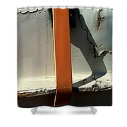 Nothing Rhymes With Orange Too Shower Curtain by Marlene Burns