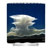Nuclear Clouds Shower Curtain by Methune Hively