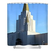 Oakland California Temple . The Church of Jesus Christ of Latter-Day Saints . 7D11377 Shower Curtain by Wingsdomain Art and Photography