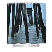 Ocean City 59th Street Pier Shower Curtain by Bill Cannon