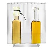 Oil And Vinegar Bottles Shower Curtain by Matthias Hauser