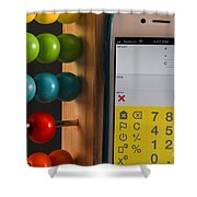 Old & New Ways Of Math Shower Curtain by Photo Researchers, Inc.