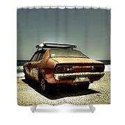 Old Car Shower Curtain by Joana Kruse