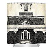 Old Church In Boston Shower Curtain by Elena Elisseeva