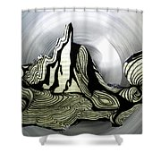 Old Drawing called Serenity  Shower Curtain by Colette V Hera  Guggenheim
