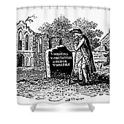 Old Man At Tombstone Shower Curtain by Granger