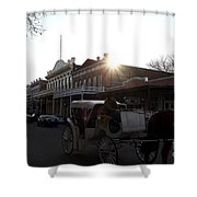 Old Sacramento California In Partial Silhouette . 7D11719 Shower Curtain by Wingsdomain Art and Photography