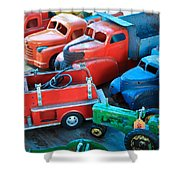 Old Tin Toys Shower Curtain by Steve McKinzie