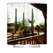 Old Tuscon Movie Studio Theme Park Shower Curtain by Susanne Van Hulst