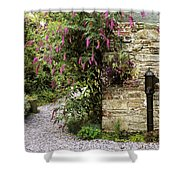Old Water Pump, Ram House Garden, Co Shower Curtain by The Irish Image Collection