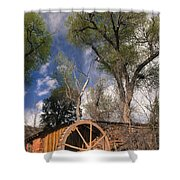 Old West Water Mill 1 Shower Curtain by Darcy Michaelchuk