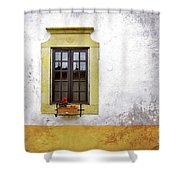 Old Window Shower Curtain by Carlos Caetano