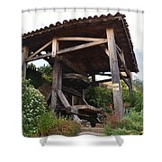 Old Wine Press Shower Curtain by Dany Lison