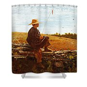 On Guard Shower Curtain by Wisnlow Homer