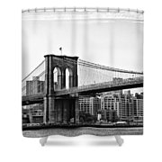 On the Brooklyn Side Shower Curtain by Bill Cannon