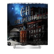 Once Upon A Time In The Sleepy Town of Crockett California - 5D16760 - Vertical Cut Shower Curtain by Wingsdomain Art and Photography