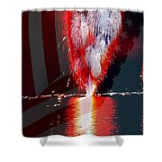 One Big Bang Shower Curtain by Cheryl Young