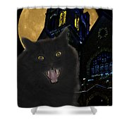 One Dark Halloween Night Shower Curtain by Shane Bechler