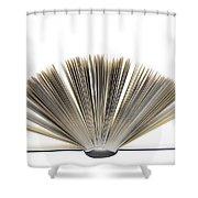 Open Book Shower Curtain by Frank Tschakert