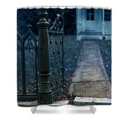 Open Iron Gate To Old House Shower Curtain by Jill Battaglia