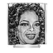 Oprah Winfrey In 2007 Shower Curtain by J McCombie