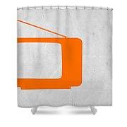 Orange Tv Vintage Shower Curtain by Naxart Studio