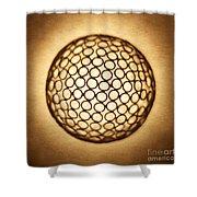 Orb Web Shower Curtain by Tony Cordoza
