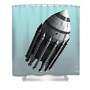Orion-drive Spacecraft With Solid-fuel Shower Curtain by Rhys Taylor