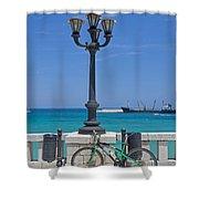 Otranto - Apulia Shower Curtain by Joana Kruse