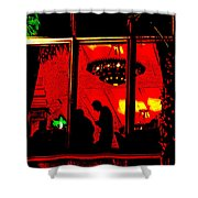 Our Specials Tonight Are... Shower Curtain by Chuck Staley