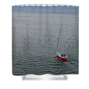 Out To Sea Shower Curtain by Chad Dutson
