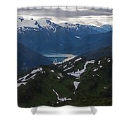 Over Alaska Shower Curtain by Mike Reid