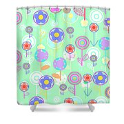 Overlayer Flowers  Shower Curtain by Louisa Knight