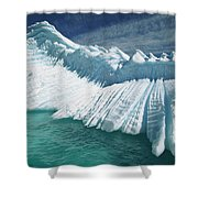 Overturned Iceberg With Eroded Edges Shower Curtain by Colin Monteath