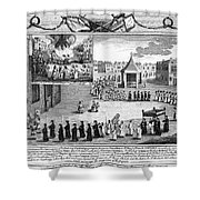 Oxford Martyrs, 1556 Shower Curtain by Granger